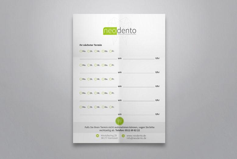 Terminzettel für Zahnärzte oder Praxen