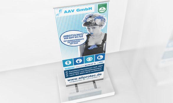 Rollup Design für AAV Arbeitsschutz