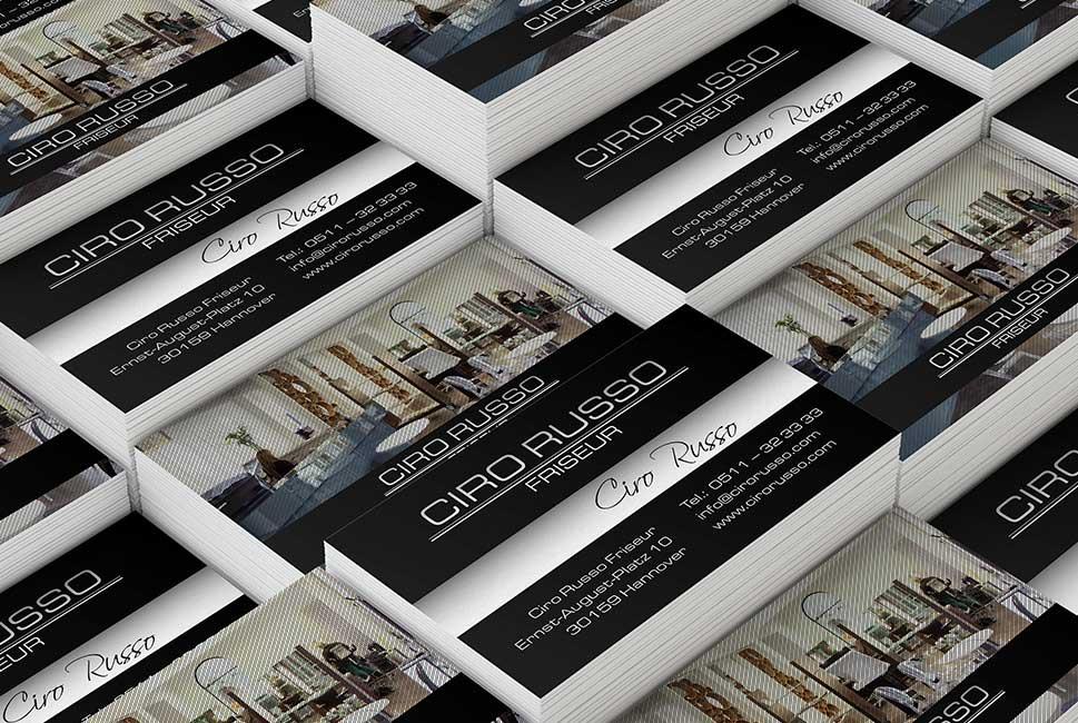Visitenkarten Ciro Russo Miu24 Werbeagentur